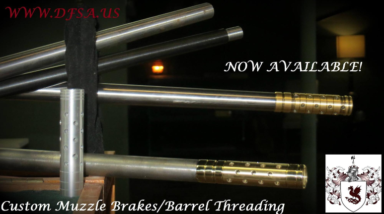 drake brake custom brass muzzle brake